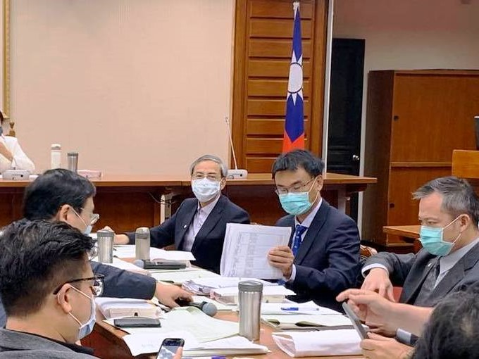 Cross-party negotiation meeting of Agricultural Insurance Act presided by legislator Chiu Yi-ying on May 1.
