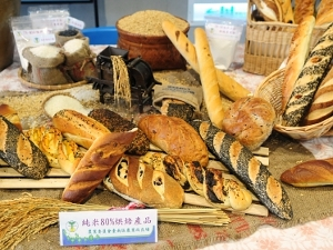 "Made with rice husk flour, so-called ""rice bread"" are just as luscious to the taste buds as wheat bread. (Picture provided by the Tainan District Agricultural Research and Extension Station)"
