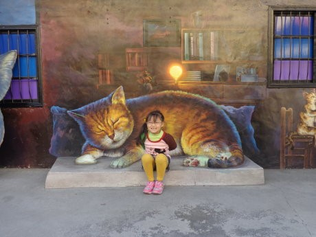 Through the Rural Regeneration Program implemented by the SWCB, the Ding-si Community extended the beloved cat Xiaomi's picture storybook to every corner in the community.