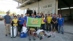 The Taoyuan Young Farmers' Club departs for Taitung to assist in the post-typhoon Nepartak recovery operation.